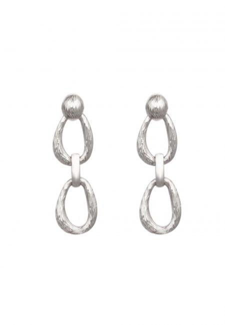Zilveren oorbellen met ring