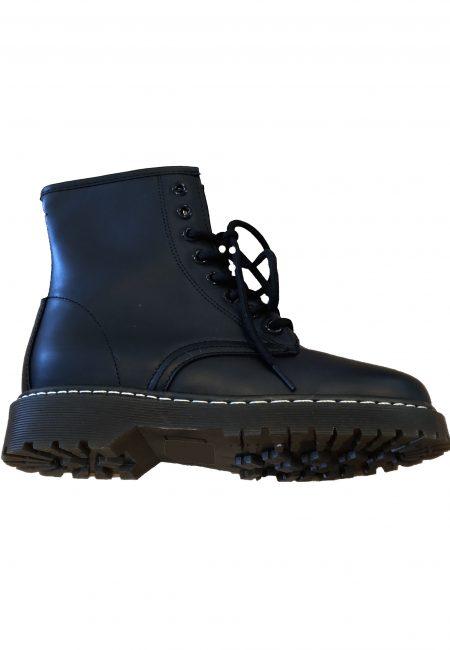 Zwarte veter boots met rits