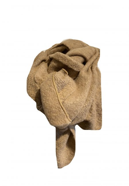 Lange zwarte camel shawl