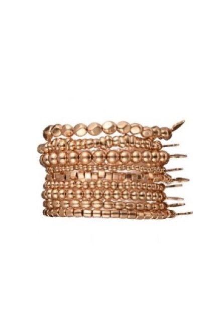 Goud elastisch armbandje