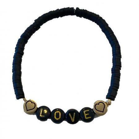 Elastisch kralen LOVE armbandje