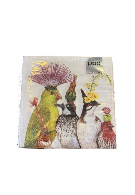 Design servetten met vogels