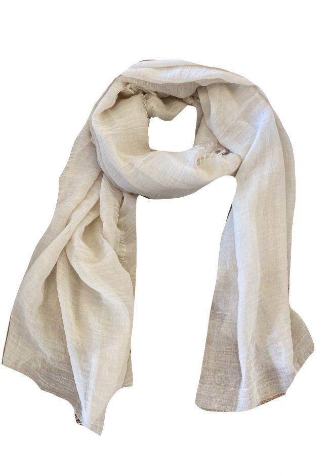 Ecru lange dunne shawl
