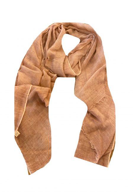 Dunne oranje shawl