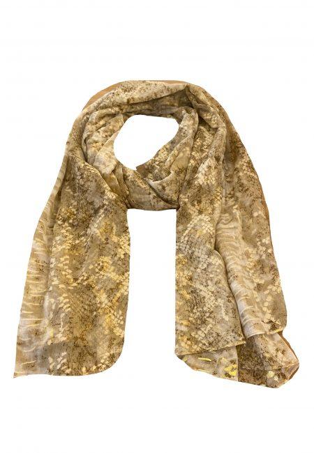 Dunne shawl met goud printje