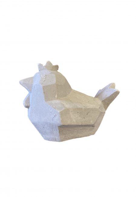 Sier kipje van cement
