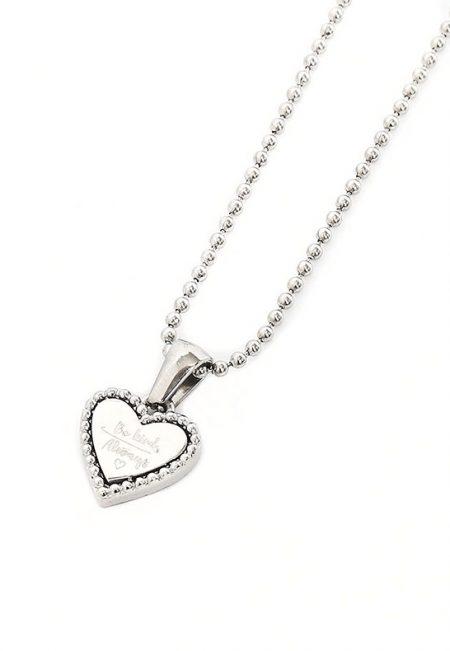 Zilveren Lange ketting met hartje
