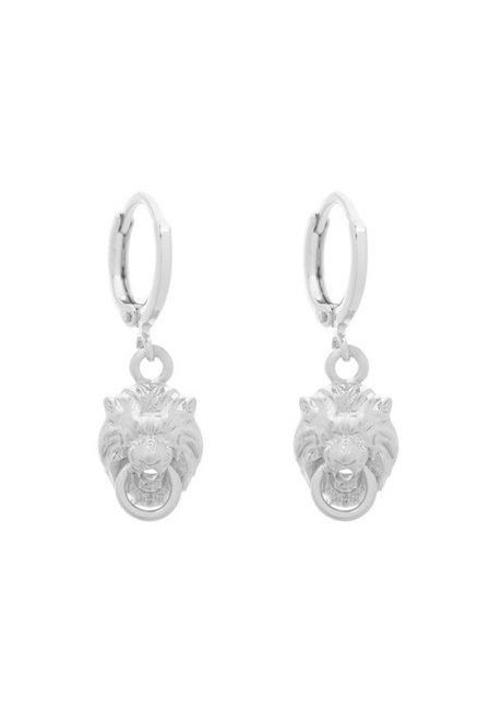 Kleine leopard zilveren oorbellen