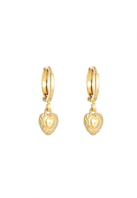 Kleine gouden hartjes oorbellen
