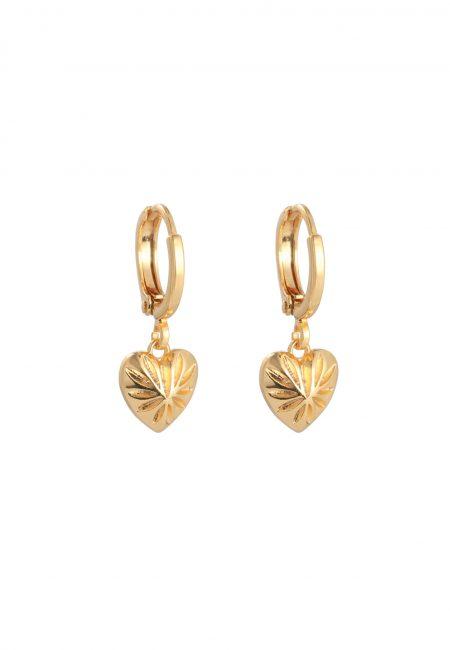 Sweet Love gouden oorbellen