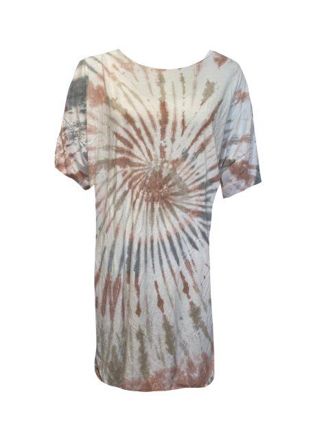 Oversized tie dye t-shirt jurkje