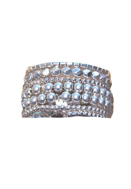 Zilver elastisch armbandje