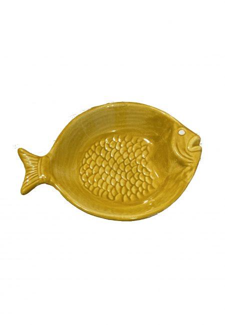 Geel schaaltje in visvorm