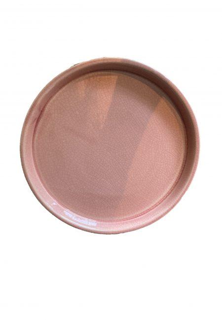 Roze aardewerk schaal dienblad