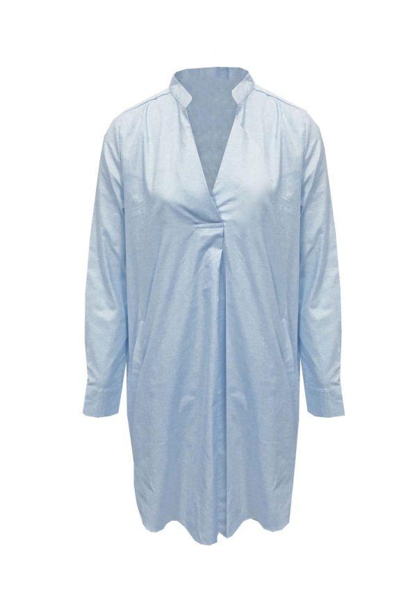Lichtblauwe tuniek blouse