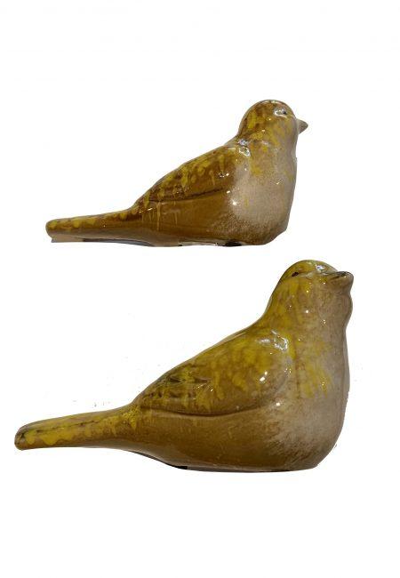 Sier vogeltje van aardewerk