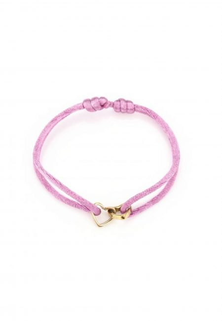 Armband double love roze