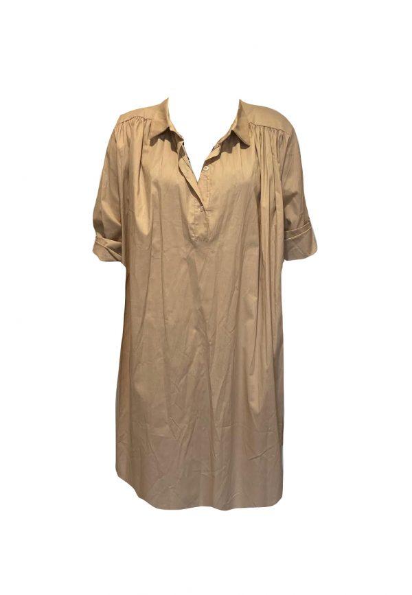 Camel kleurige oversized blouse/jurk
