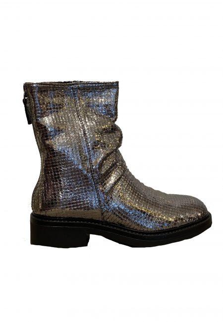Metallic boots met rits