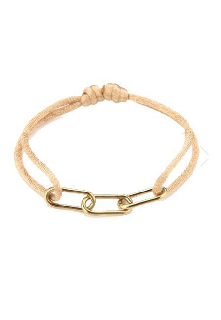Verstelbaar armbandje zalm goud