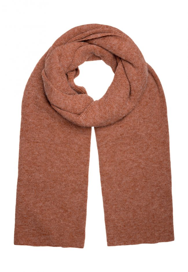 Lange shawl roestbruin