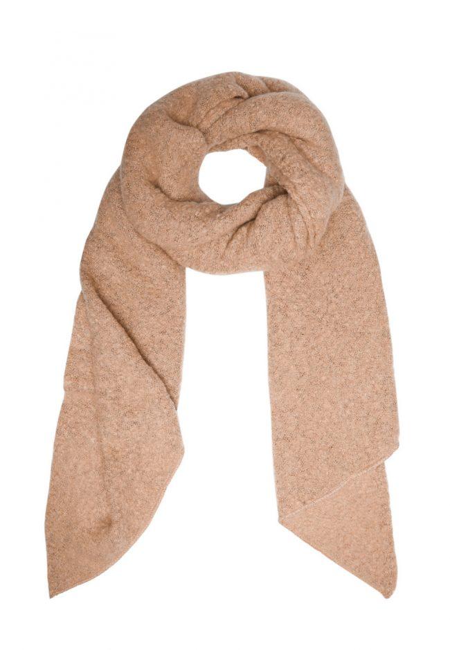 Zachte camel kleurige shawl