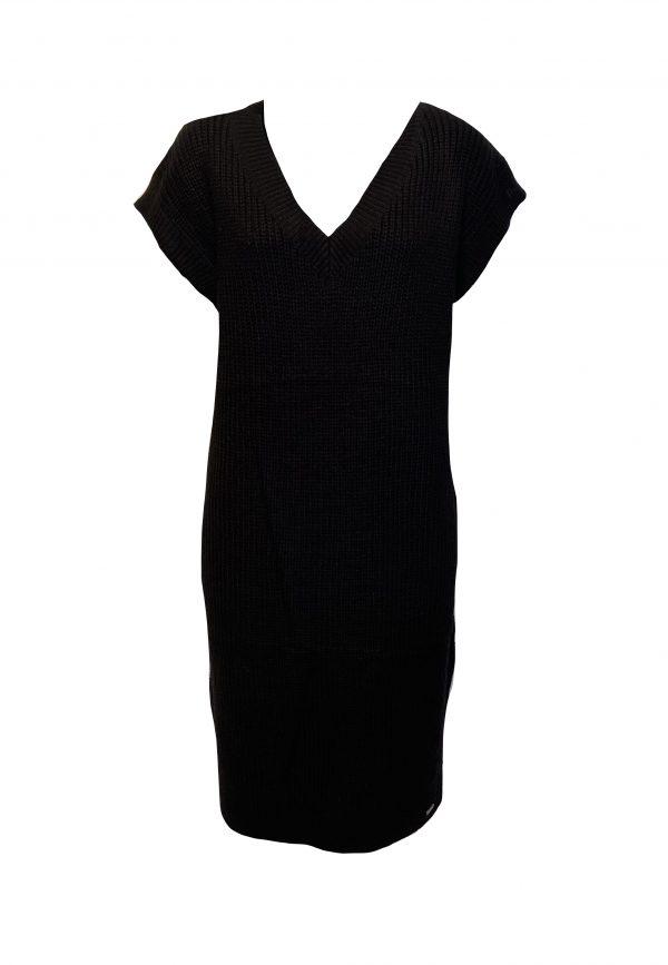 Zwarte gebreide spencer/jurk
