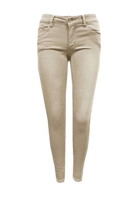 Khaki full stretch jeans