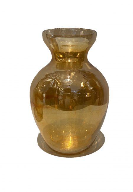 Gouden glazen vaasje
