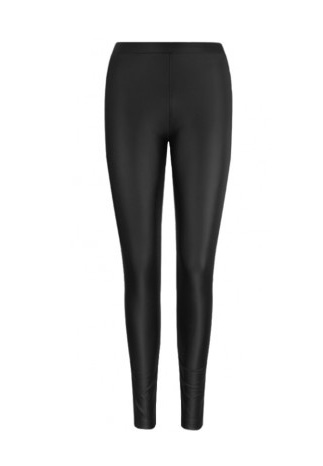 Zwarte leer look legging