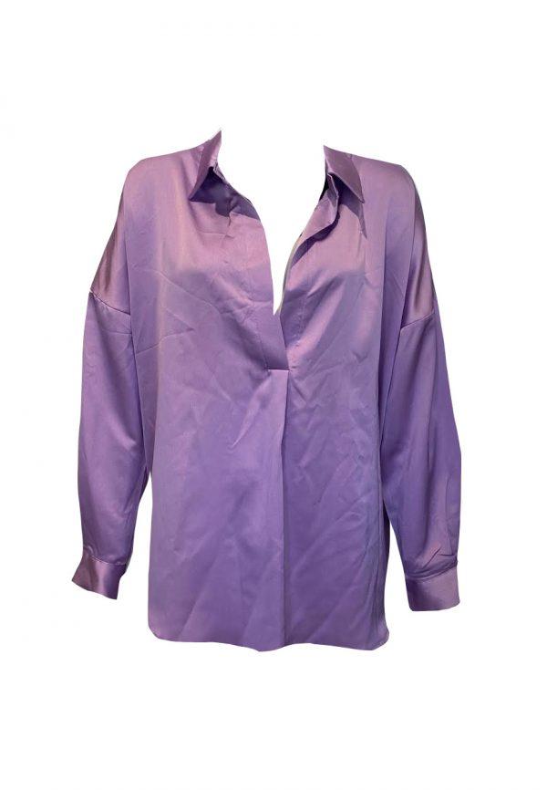 Lilla glans blouse