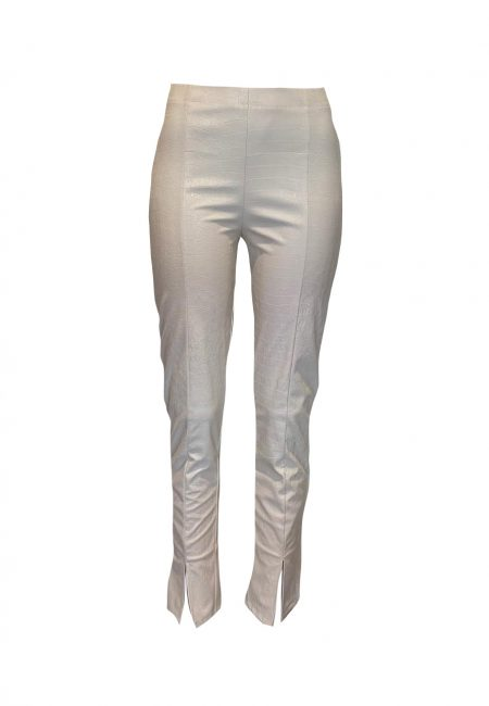 Off white leer look legging snake print