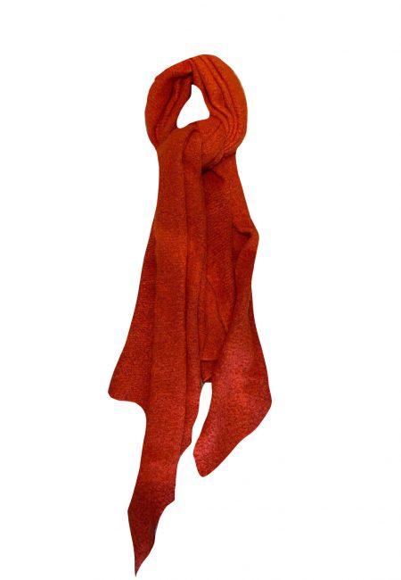 Rode zachte shawl