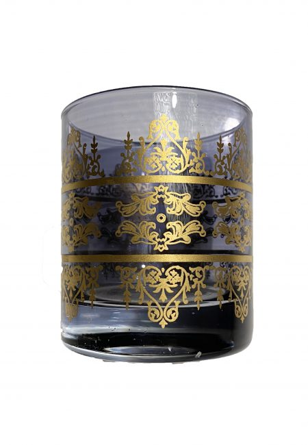 Sfeerlicht rookglas met goud
