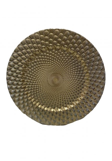 Gouden Blad-bord voor kaarsen, kandelaars