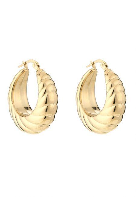 Klassieke gouden draai oorbellen