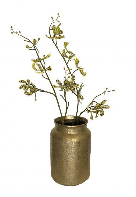 Gouden grote vaas met orchidee