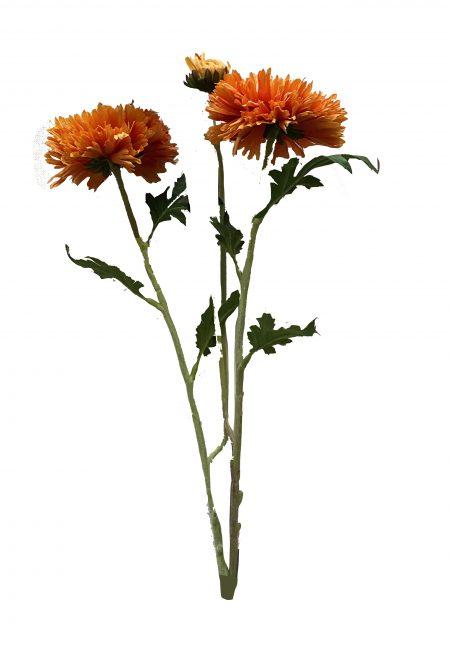 Oranje Aster kunstbloem