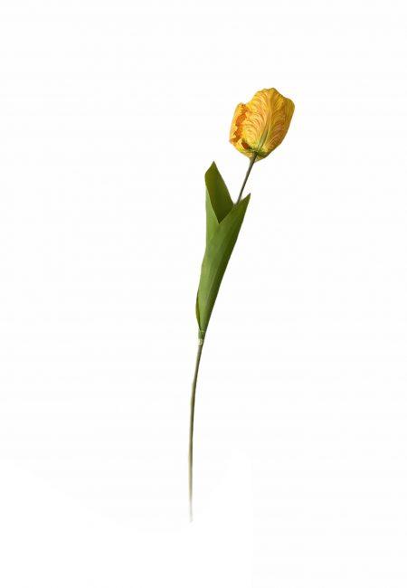 Gele papegaai tulp (kunstbloem)