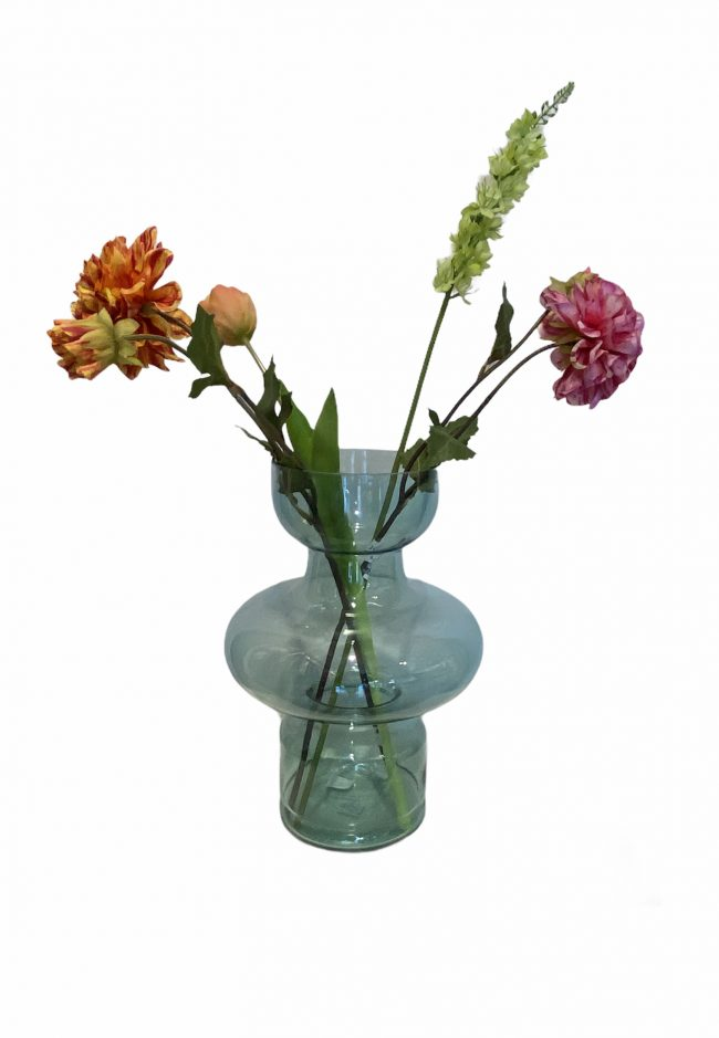 Glazen groene vaas