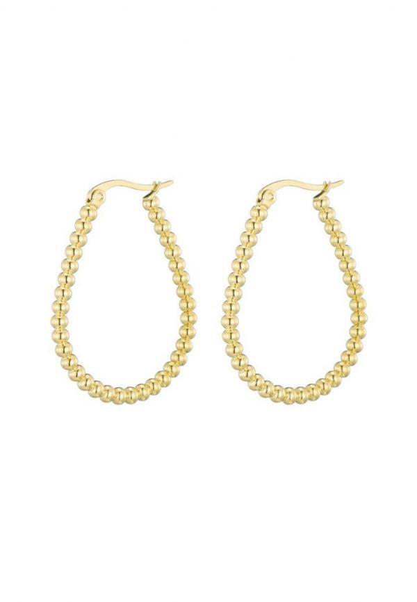 Gouden ovale oorbellen, De Leuke Dingen