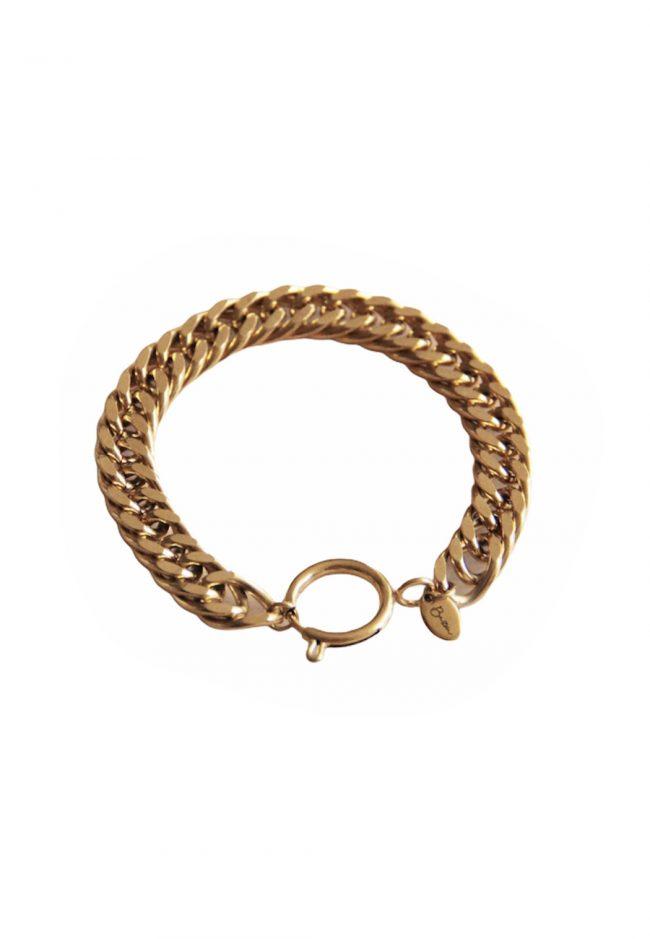 Goudkleurige statement armband
