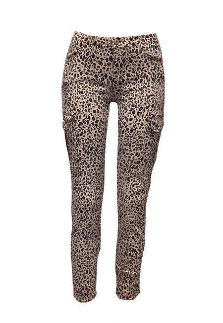Full stretch jeans animal print
