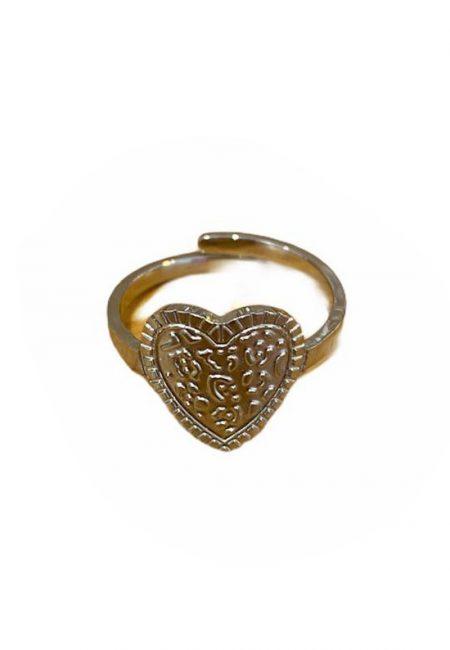 Verstelbare hartjes ring