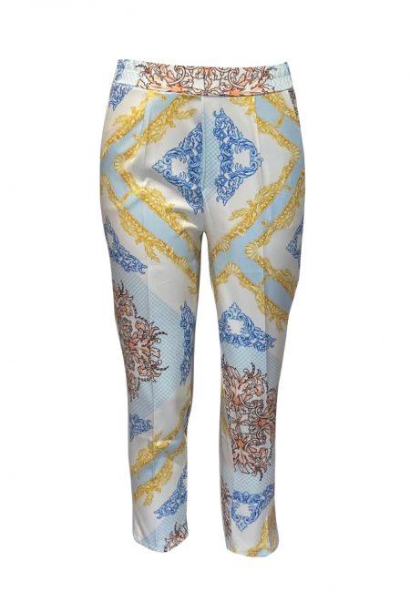 Kleurige print broek