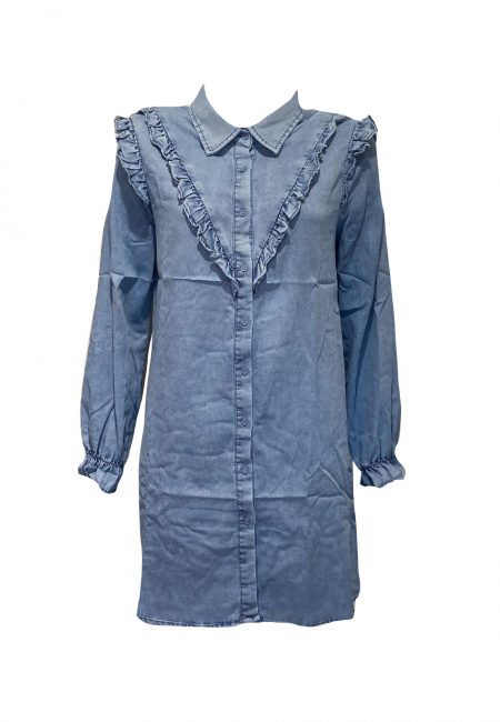 Denim blouse tuniek