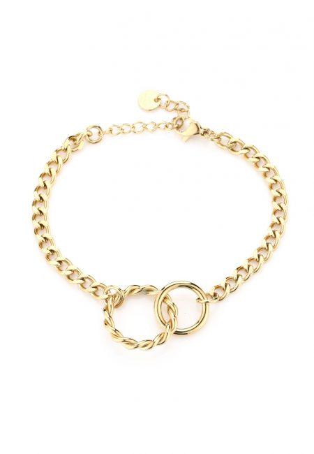 Goudkleurige armband statement ringen