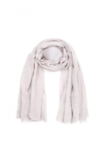 Lichtgrijze shawl