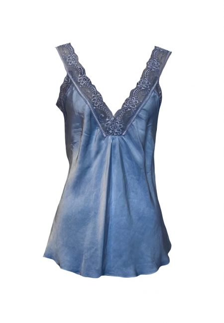 Blauw hemdje met kant