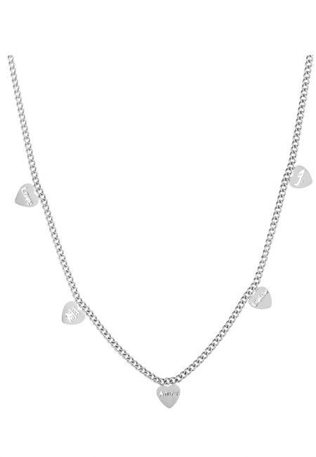 Zilverkleurig ketting met hartje